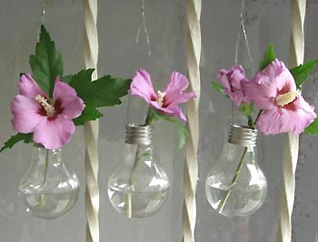 vasos com lampada
